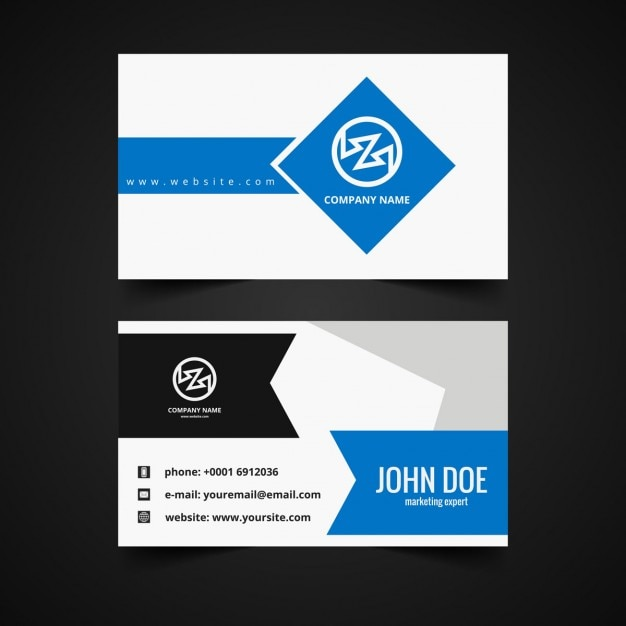 Modern business card template vector free download modern business card template free vector flashek Choice Image