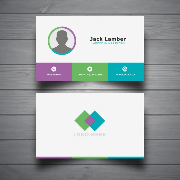 Modern business card template vector free download modern business card template free vector accmission Gallery