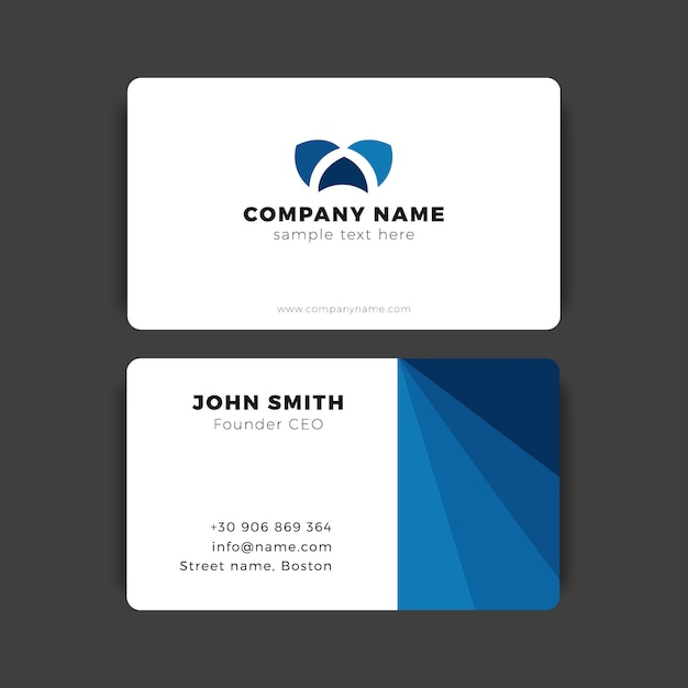 Modern business card template vector free download modern business card template free vector flashek Images