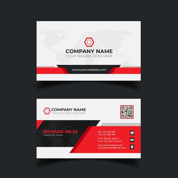 Modern business card template Premium Vector