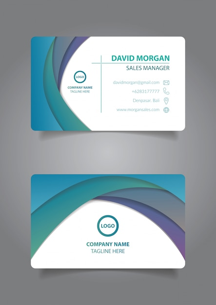 Modern business card template Vector | Premium Download