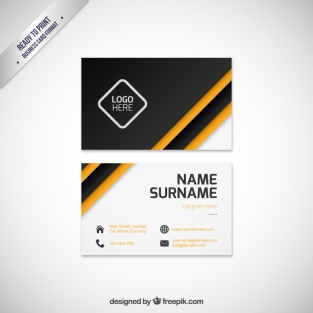 Modern business card template vector premium download for Modern business cards templates