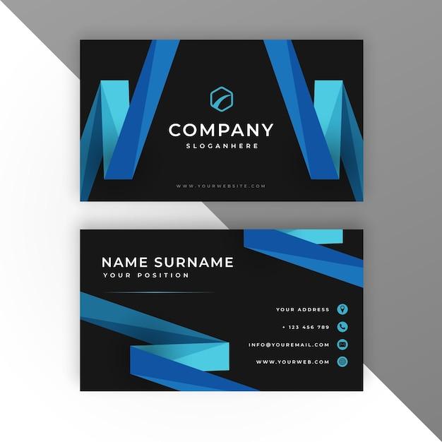 Modern business card template Free Vector
