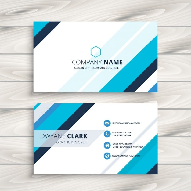Modern business card with blue stripes vector free download modern business card with blue stripes free vector colourmoves
