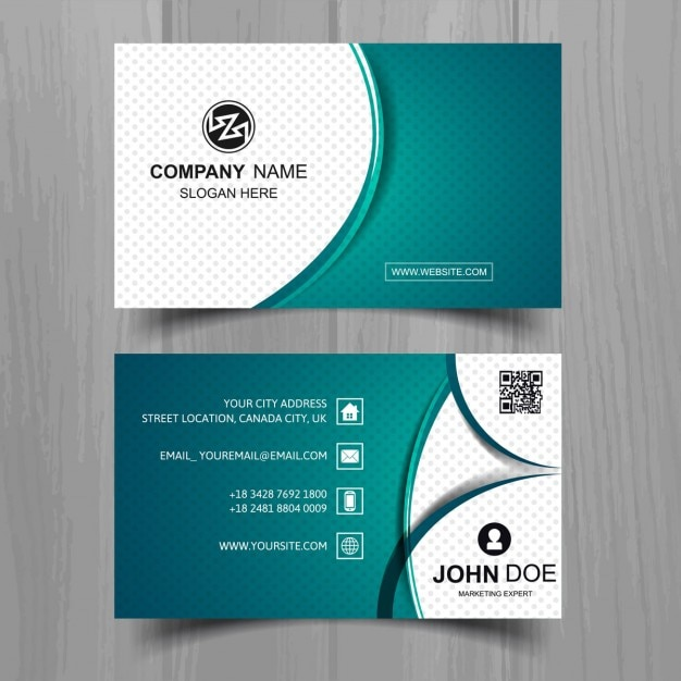 Modern business card with dots