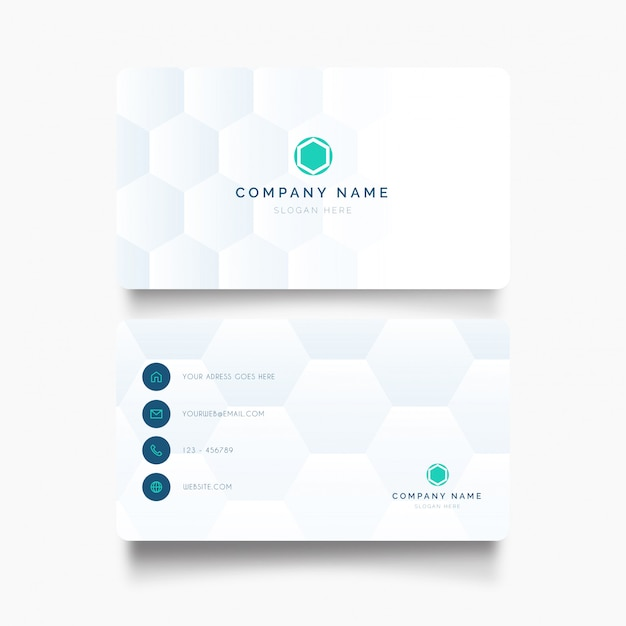 Modern business card with medical background Free Vector