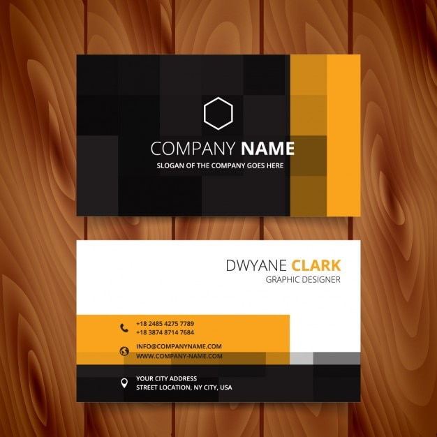 Modern business card with pixelated style vector free download modern business card with pixelated style free vector colourmoves