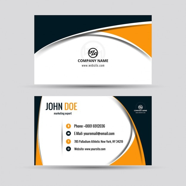 Modern business card vector free download modern business card free vector reheart Gallery