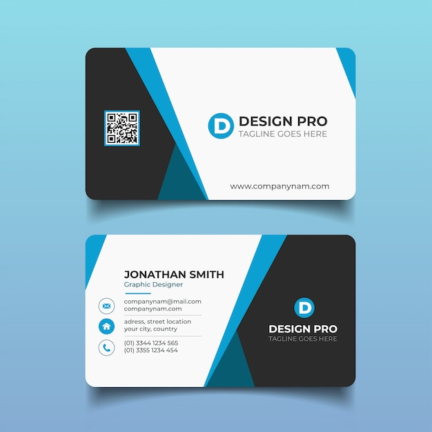 Modern business card Premium Vector