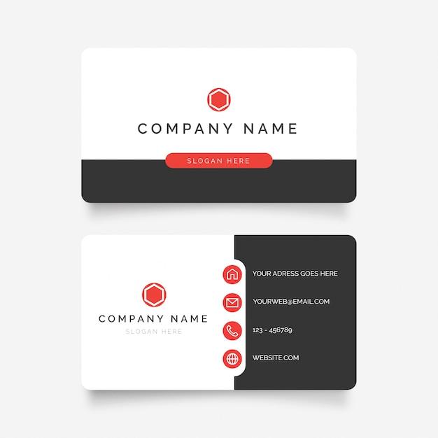 Modern business card Free Vector