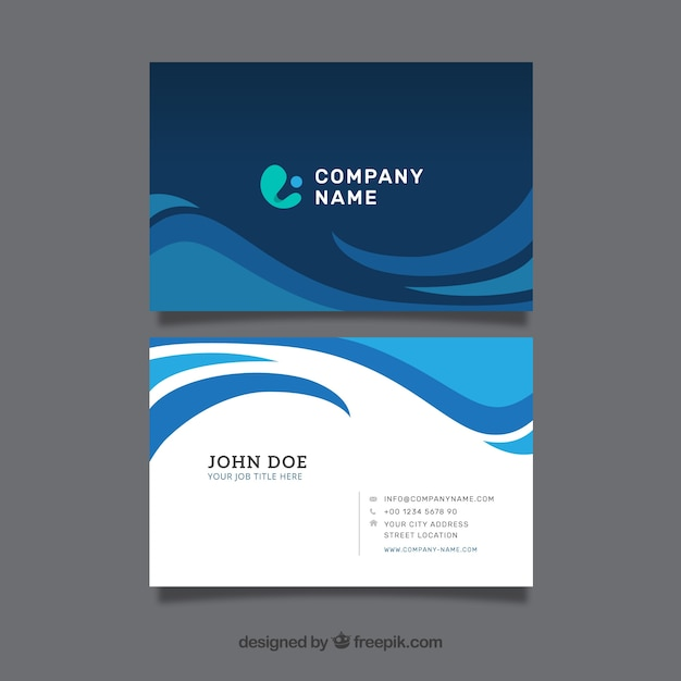 Modern business card vector free download modern business card free vector colourmoves