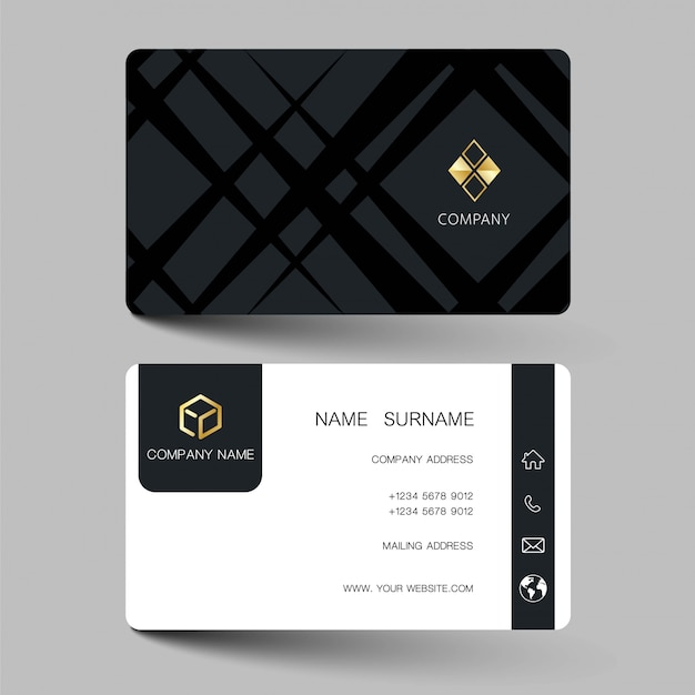 Modern business card Premium Vector