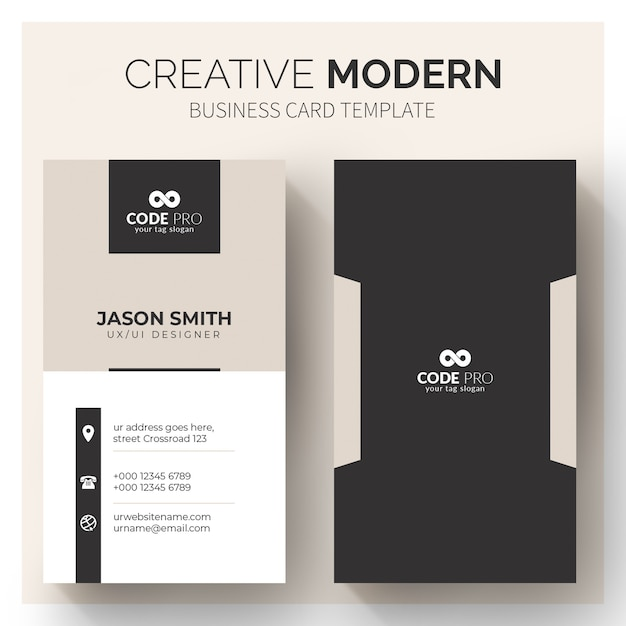 Modern business cards template Free Vector