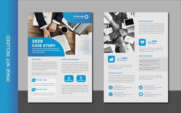 Premium Vector Modern Business Case Study Template Design
