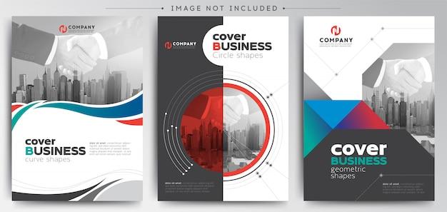 Modern business cover brochure template Premium Vector