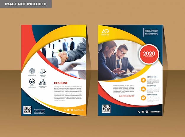 A modern business cover Premium Vector