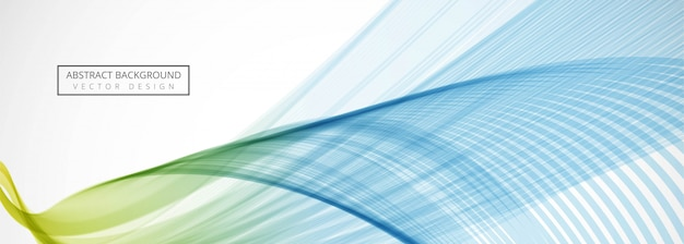 Modern business creative wave banner background Free Vector