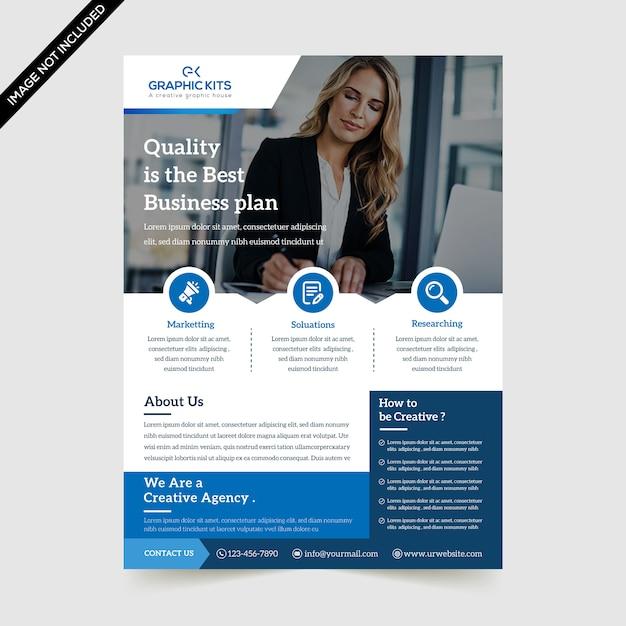 Modern business flyer premium vector Premium Vector