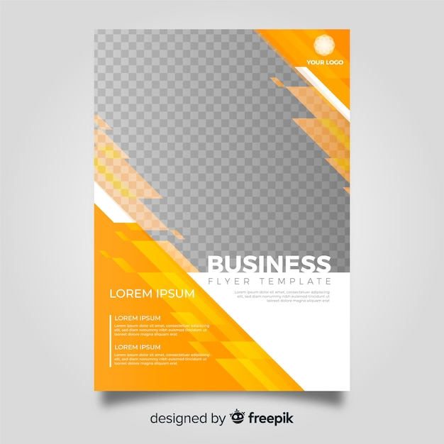 Modern business flyer template with abstract design Free Vector