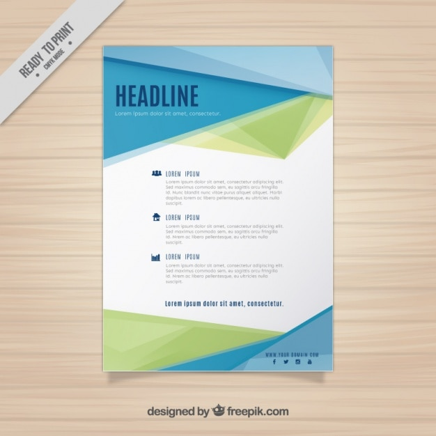 Modern Business Flyer Template Vector | Free Download
