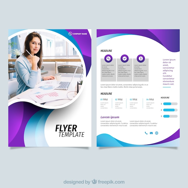 modern business flyer template vector free download