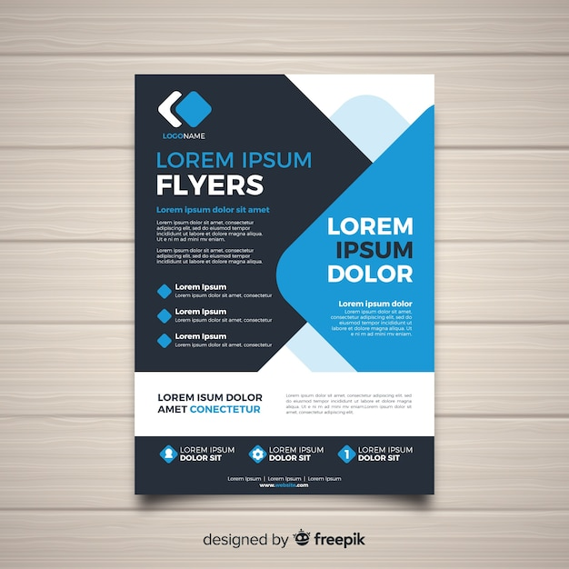 Modern business flyer template Free Vector