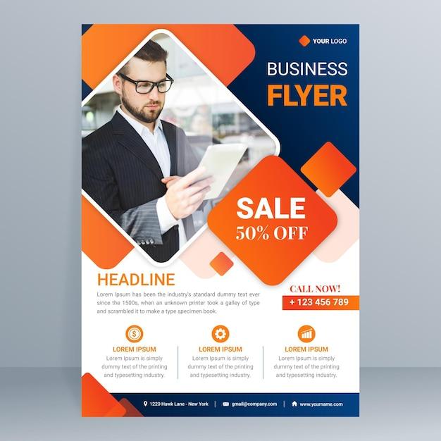 Free Vector Modern Business Flyer Template