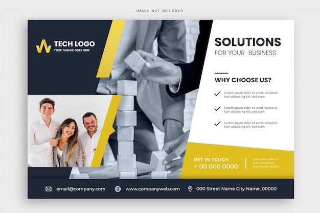 Modern business flyer template Free Vector