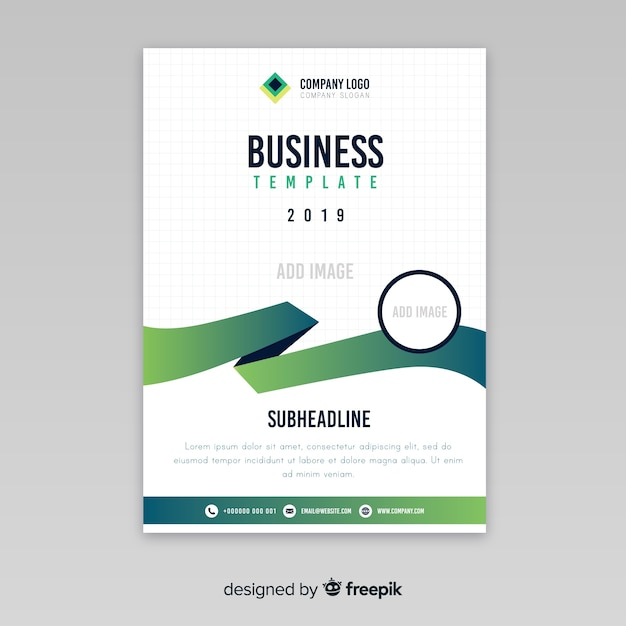 Modern business flyer with abstract design Free Vector