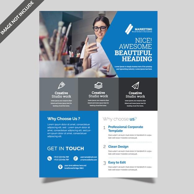 Modern business flyer Premium Vector