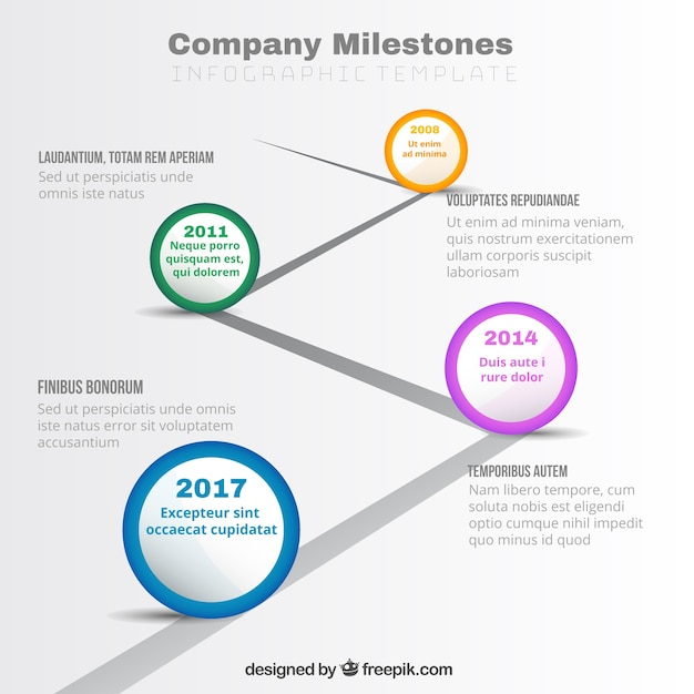 modern business graphic with milestones vector