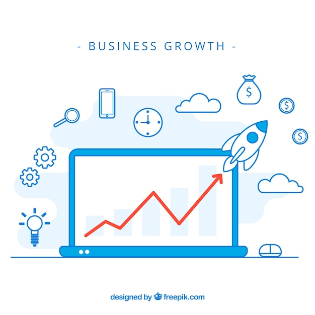 Modern business growth concept Free Vector
