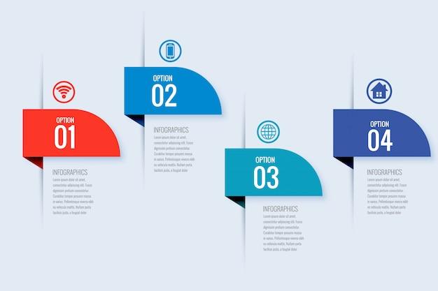 Modern business infographic banner design Free Vector