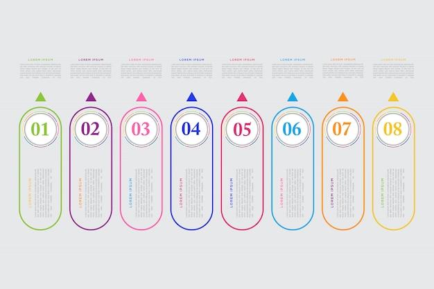 Modern business infographic element template Premium Vector