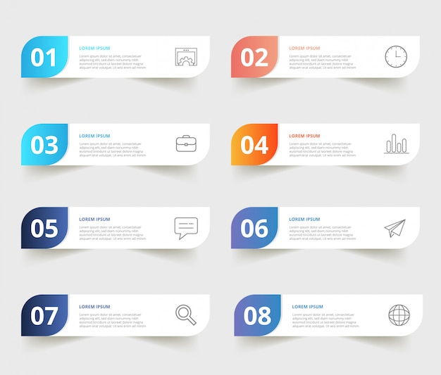 Modern business infographic templates Premium Vector