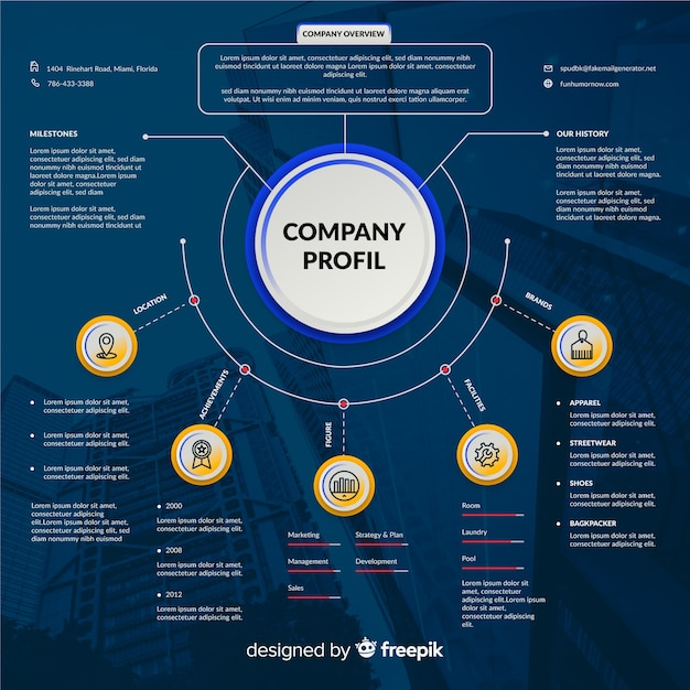 Modern business infographic with photo Free Vector