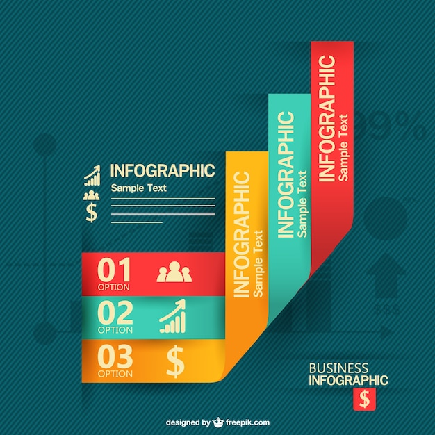 Modern business infographic Vector | Free Download