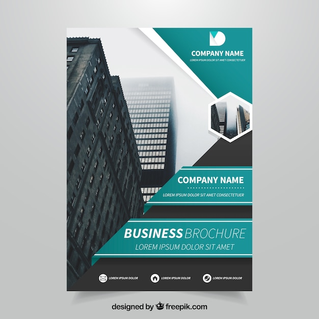 modern business leaflet template free vector