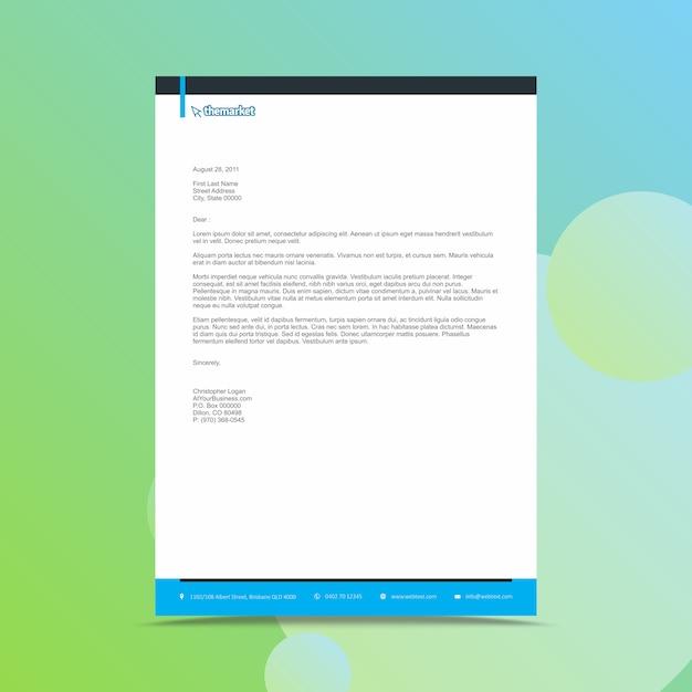 Modern business letterhead design template Premium Vector