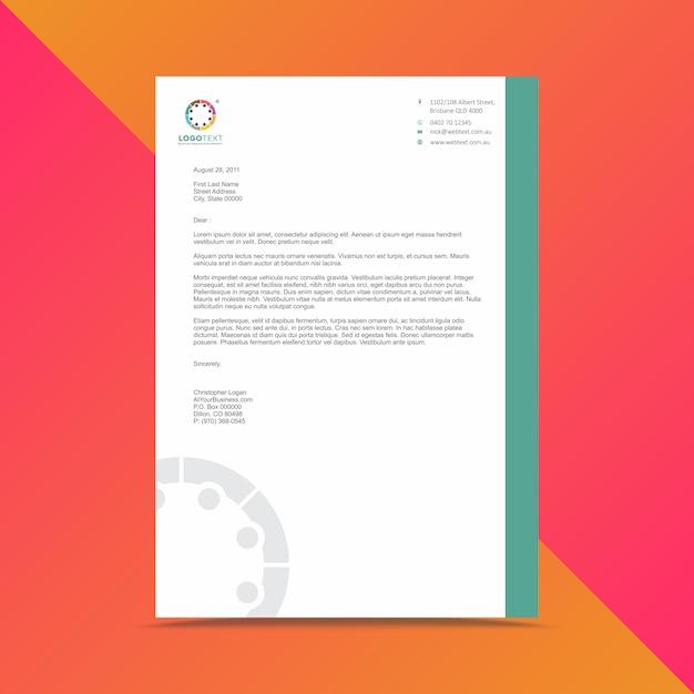 Modern business letterhead design template vector premium download modern business letterhead design template premium vector cheaphphosting Images