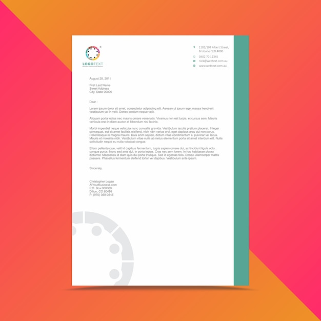 Modern business letterhead design template vector premium download modern business letterhead design template premium vector friedricerecipe Image collections