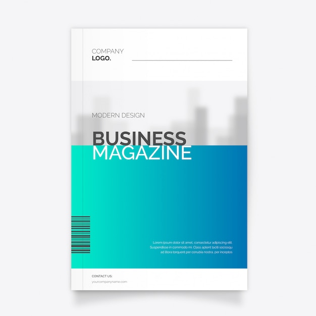 Modern business magazine template vector free download modern business magazine template free vector flashek Choice Image