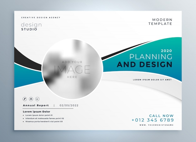 Modern business presentation cover brochure template Free Vector
