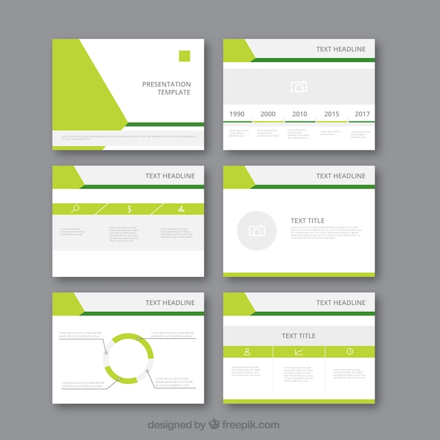 Awesome Modern Business Presentation Template Free Vector