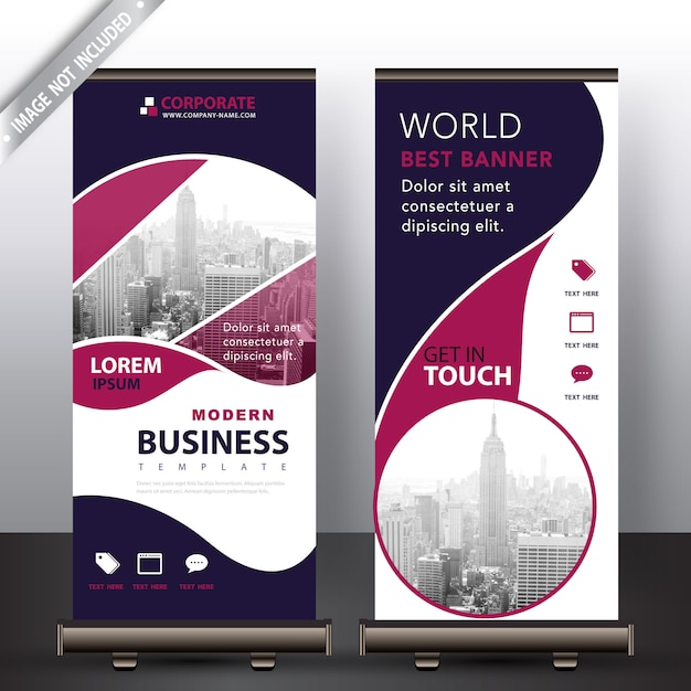 Modern business roll up banner Vector Free Download
