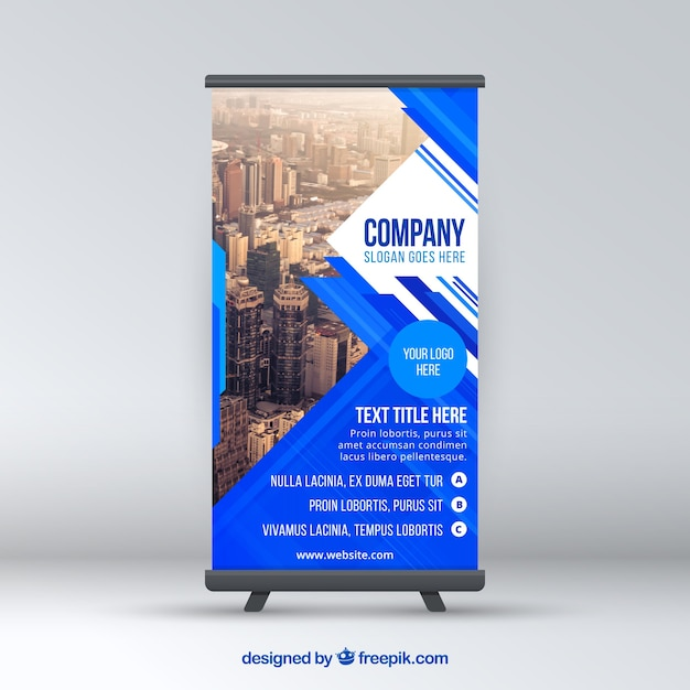 Modern business roll up Free Vector