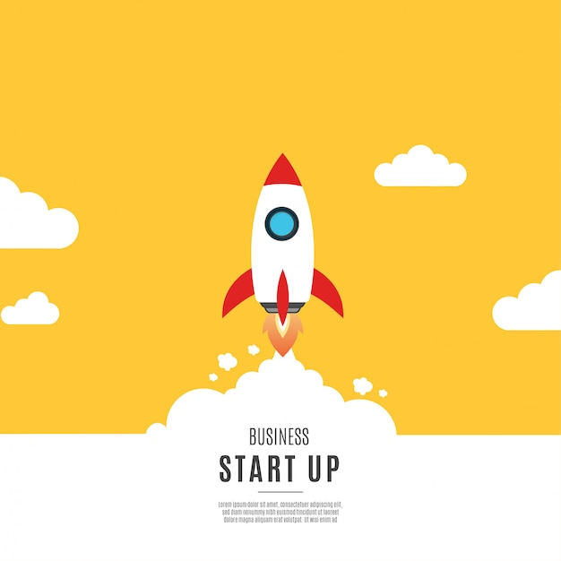 Modern business start up background Free Vector