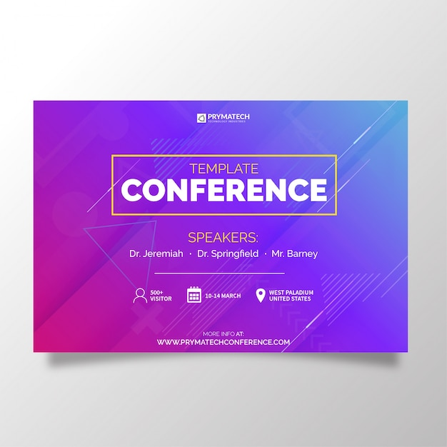 Modern business template conference Free Vector