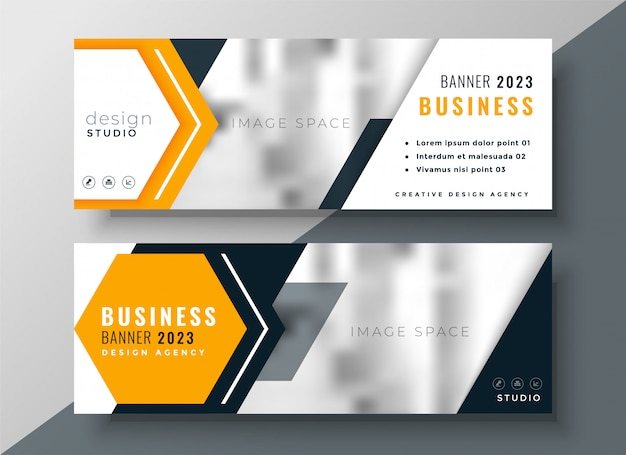 Modern business template with text and image space Free Vector
