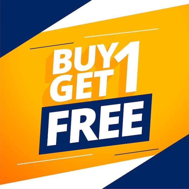 Modern buy one get one free banner Free Vector